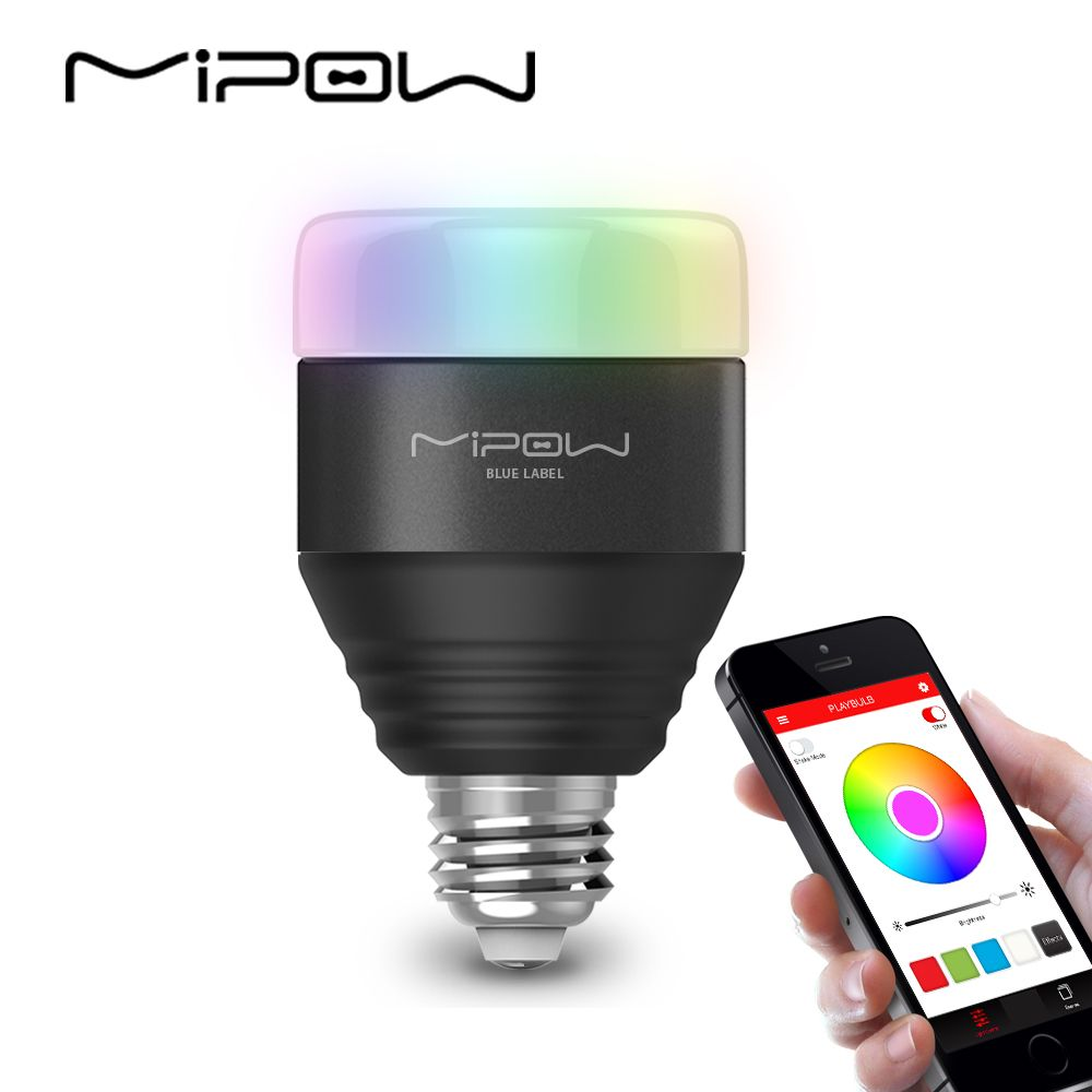 MIPOW Playbulb LED E26/E27 WIFI Smart Ampoule Magique Lampe Dimmable Wake-Up Lumière Bluetooth APP Contrôle RGB multi Couleurs