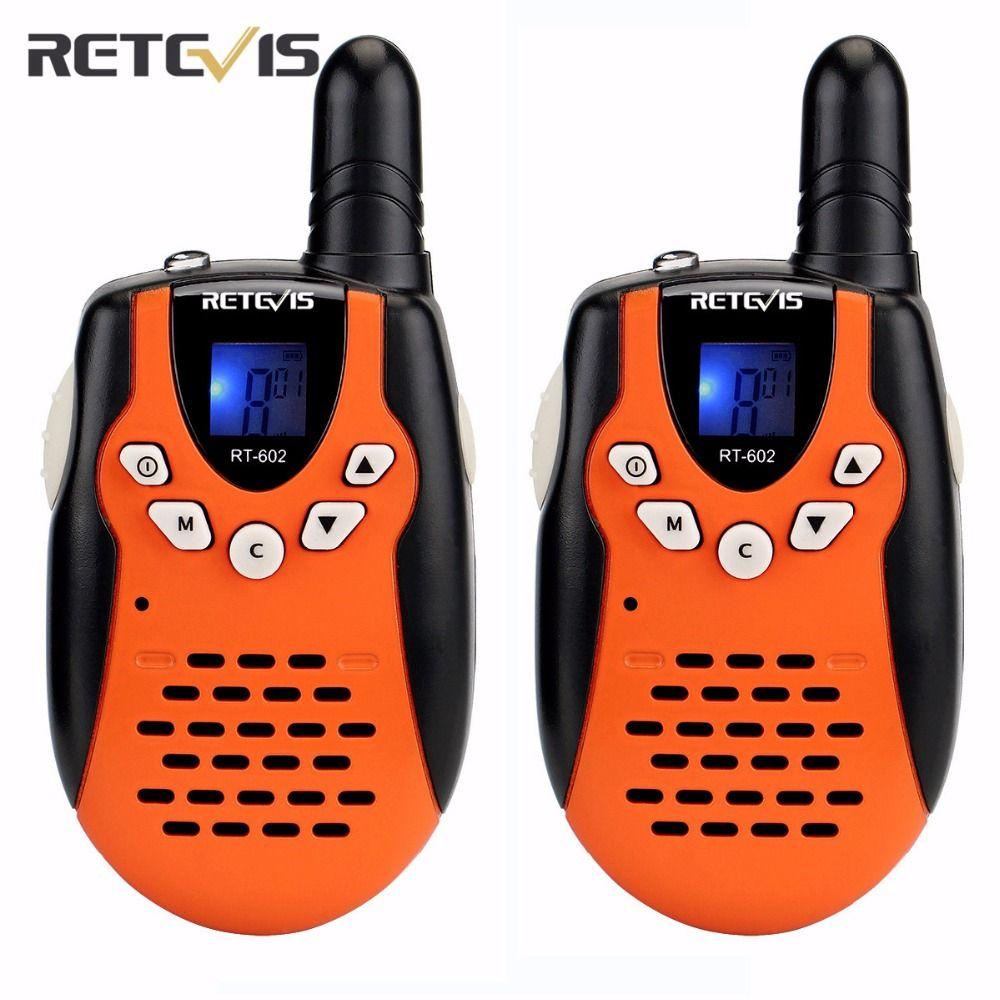 2 pcs Mini Walkie Talkie Retevis RT-602 EU/US Frequency 0.5W For Kid Children LCD Display Flashlight VOX Two Way Radio A7120