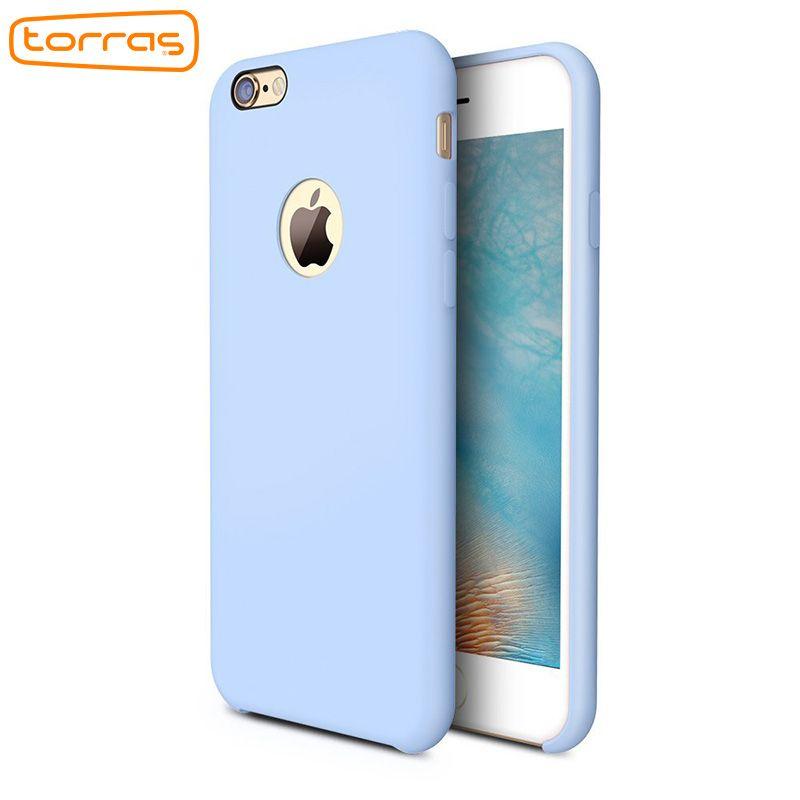 TORRAS Liquid Silicone Rubber Case for iPhone 6 6 Plus Soft Phone Cover Case Microfiber Cushion Phone Case for iPhone 7 7 plus
