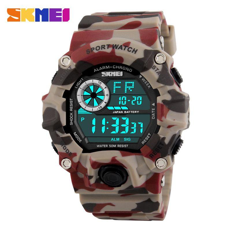 SKMEI G Style hommes sport montres chronographe militaire numérique montres Camouflage résistant aux chocs Montre Homme Erkek Saat