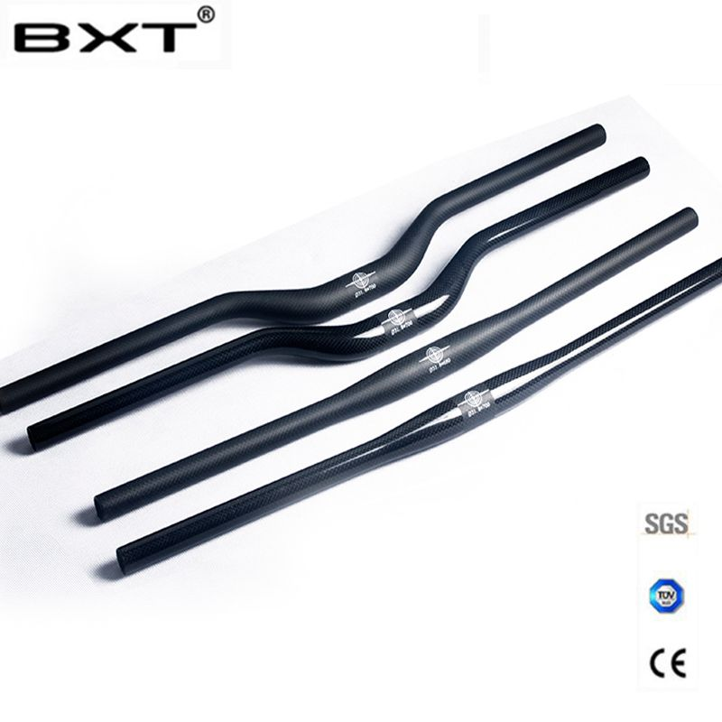 brand BXT carbon fiber bicycle handlebar matt / glossy mountain bike carbon handlebar 600mm - 720mm mtb bicycle parts