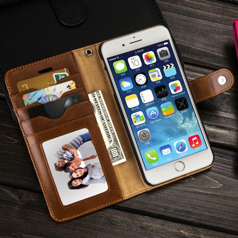 Musubo Luxe En Cuir étui pour iphone 8 Plus 7 Arrière Détachable étuis pour iphone XS MAX X 6 plus 6 s housse ajustement magnétique support pour voiture