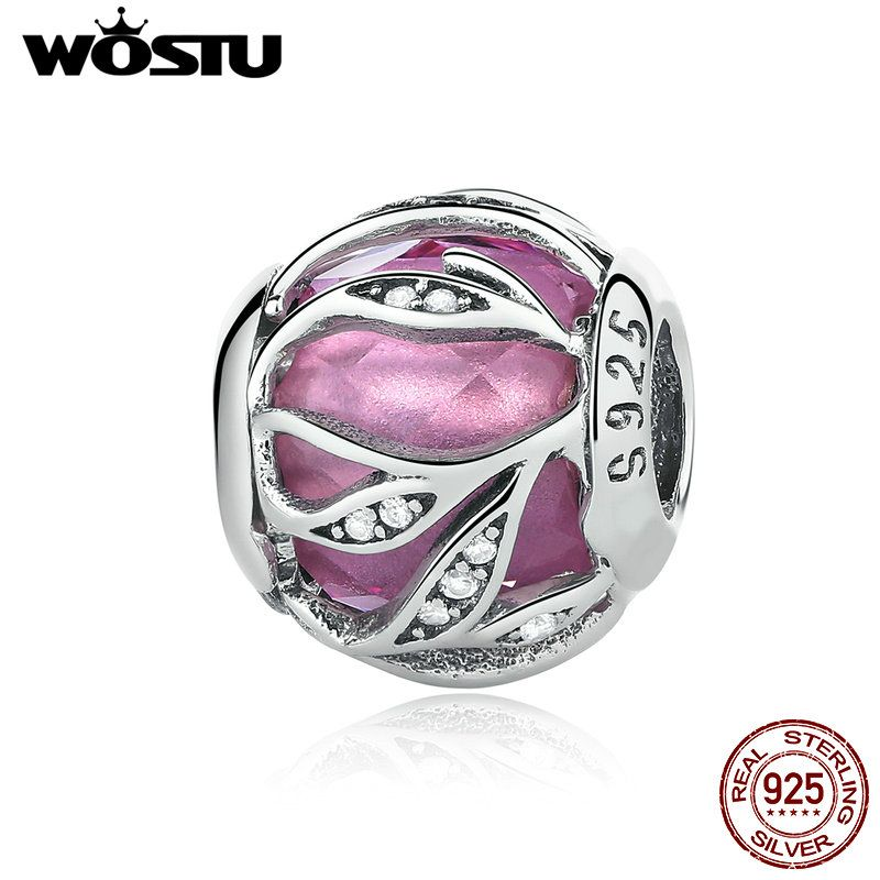 WOSTU Hot Sale 925 Sterling Silver 5 Colors Nature's Radiance Beads Fit Original WOST Charm Bracelet DIY Jewelry Making BLC133