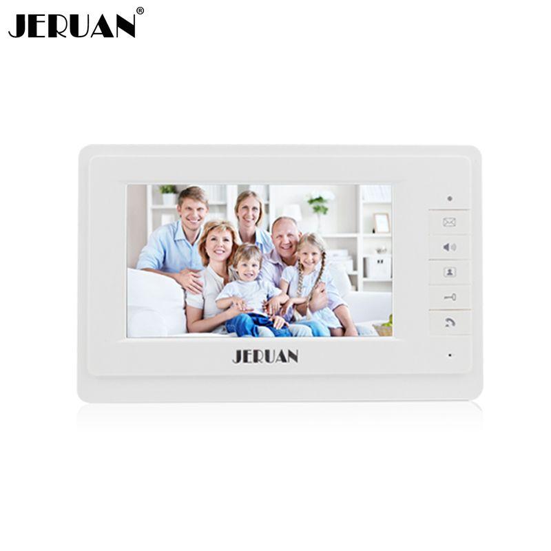 JERUAN 7 pulgadas color video de la puerta sistema de intercomunicación del teléfono sólo monitor 714