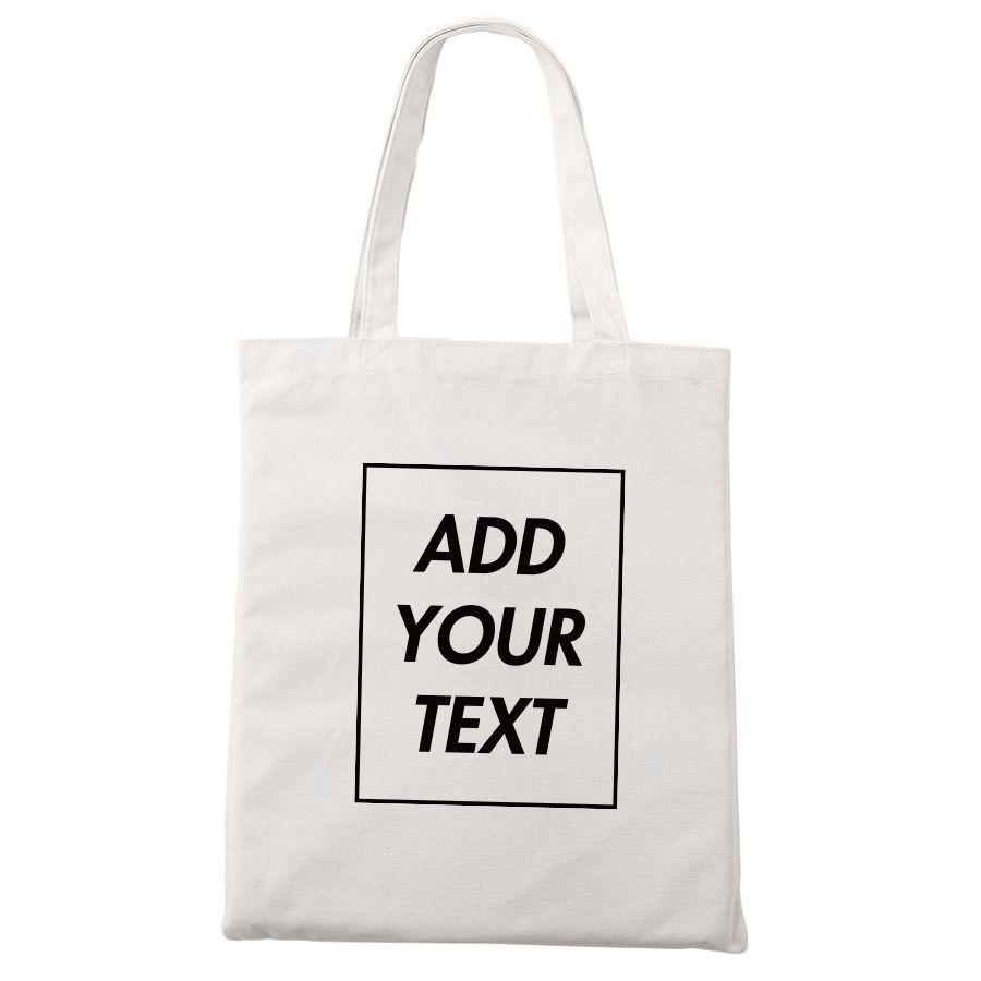 Sac fourre-tout personnalisé Shopping ajouter votre impression de texte Design Original blanc Zipper unisexe mode voyage sacs en toile