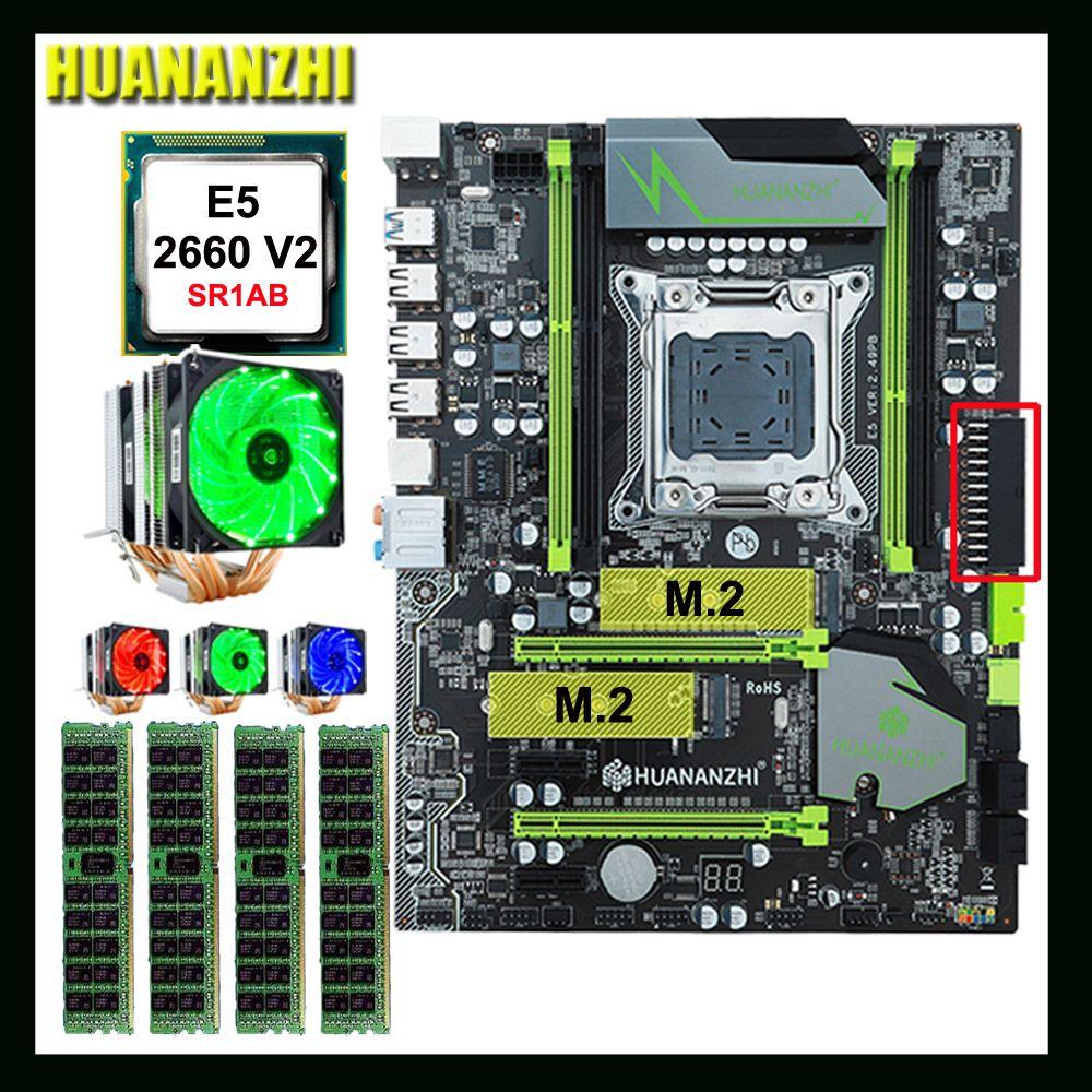 Große marke HUANANZHI X79 Pro motherboard mit DUAL M.2 NVMe SSD slot CPU Intel Xeon E5 2660 V2 mit 6 rohre kühler RAM 64G (4*16G)