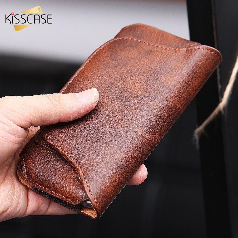 KISSCASE Pour iPhone 7 6 6 s Plus Pour Samsung S7 S6 Bord Éléphant Peau 5.1