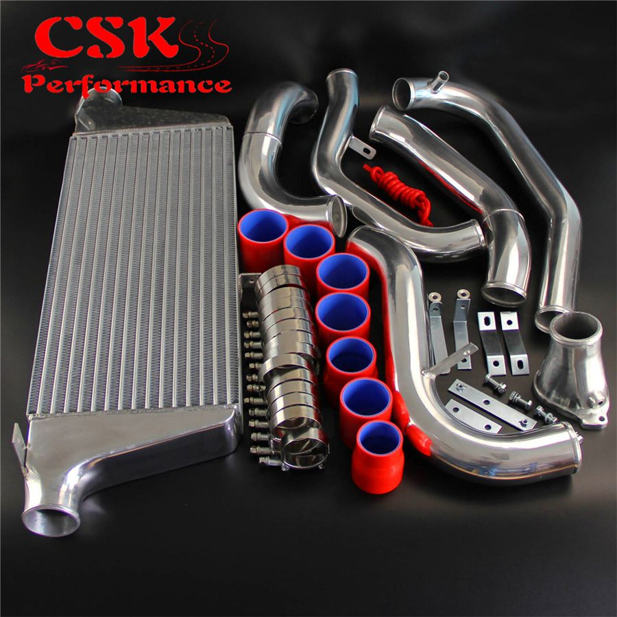 FMIC Intercooler Kit Fits For 1986-1991 Mazda RX7 RX-7 FC FC3S 13B Red/Black/Blue