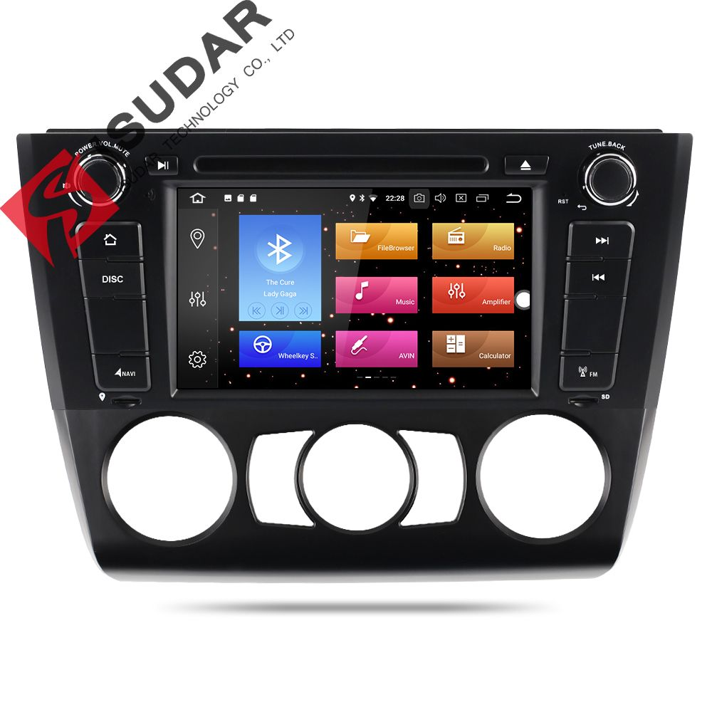 Isudar Car Multimedia Player DAB Car Radio 1 din GPS Android 8.0 For BMW E81/E82/E88 1 Series Canbus DSP OBD2 Microphone DVR