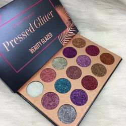 Kecantikan Mengkilap 15 Warna Glitter Terpesona Diamond Unicorn Eyeshadow Palet Ultra Gliter Shimmer Eye Shadow Pallet Maquiagem