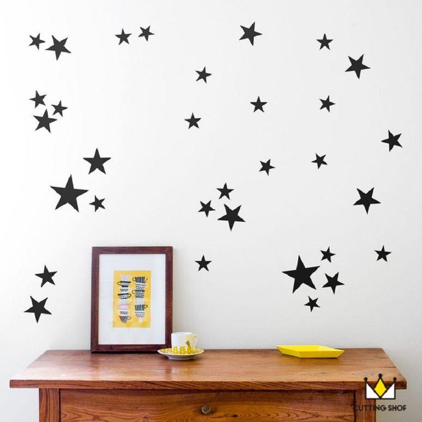 110 шт. 5/4/2.5 см 3 размер смешивания звезда шаблон Симпатичные настенные пленка для дети легко съемный Водонепроницаемый Эко материал для деко...