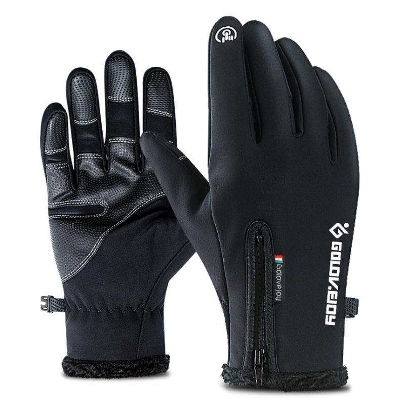 Outdoor Sports Hiking Winter Bicycle Bike Cycling Gloves For Men Women Simulated Leather Soft Warm Gloves Touch Screen