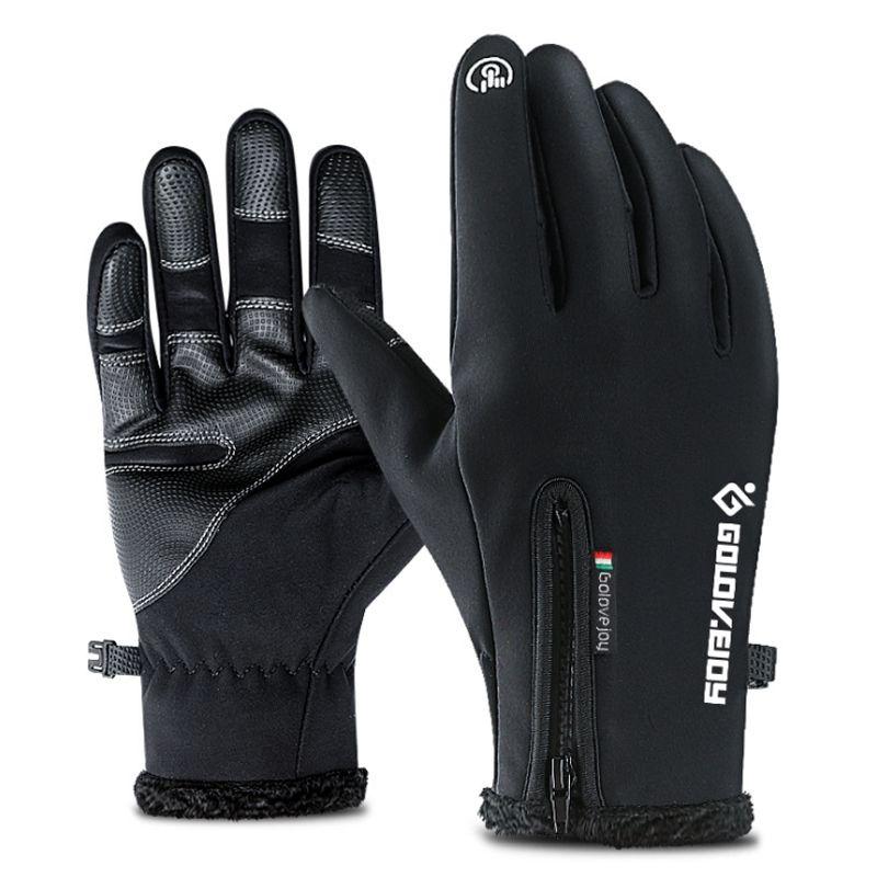 Sports de plein air Randonnée Hiver De Vélo de gants de cyclisme Pour homme femme Simulé En Cuir Souple gants chauds écran tactile