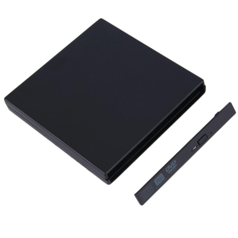 2 stücke USB 2.0 DVD CD DVD-Rom IDE Externe Fall Schlank für Laptop Notebook Großhandel Drop Shipping