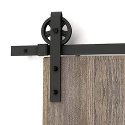 150cm-300cm Industrial Big Wheel Sliding Door Barn Wood Door Interior Closet Door Kitchen Door Track System Kit Hardware