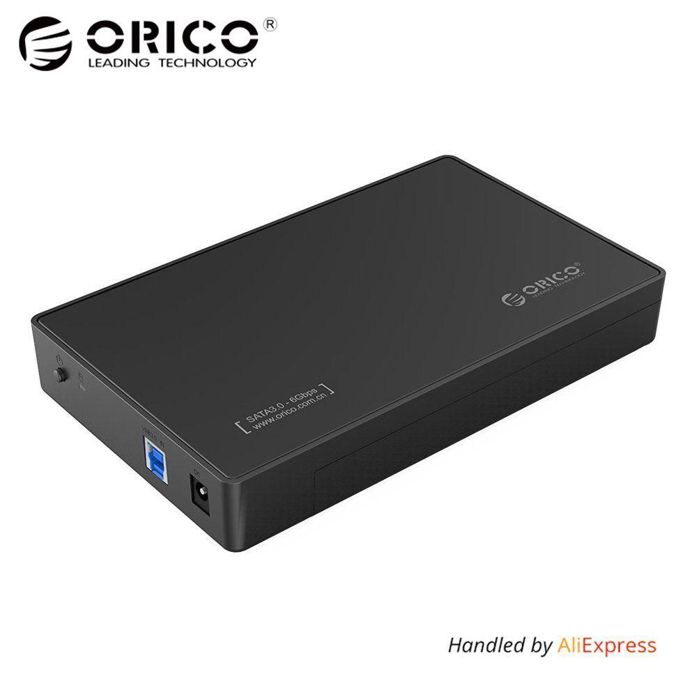 3,5 Zoll HDD Gehäuse Fall, USB 3.0 5 Gbps zu SATA Unterstützung UASP und 8 TB Sticks für Notebook Desktop PC (ORICO 3588US3)