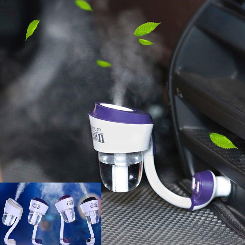 Nanum ii nouveau 12V II voiture humidificateur à vapeur avec 2pc chargeur de voiture USB, purificateur d'air arôme huile diffuseur aromathérapie brumisateur