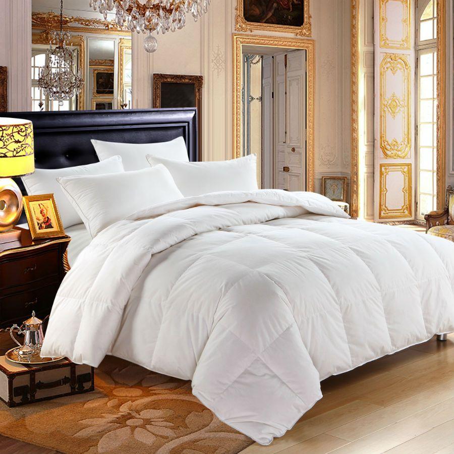 Peter Khanun White Duck Down Winter Quilt/Comforter/Duvet/Blankets 100% Cotton Shell 233TC Twin Full Queen King Top Quality 019