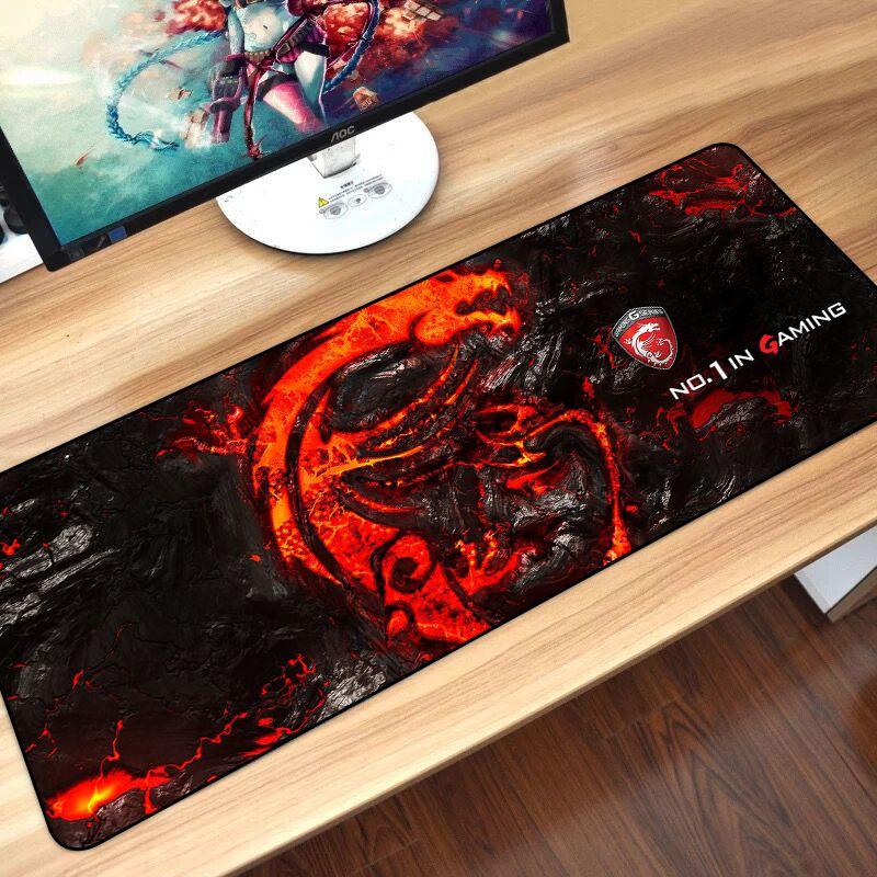 Sovawin 80*30cm tapis de souris de jeu grand XL Dragon Logo ordinateur tapis de souris XXL tapis de bureau en caoutchouc pour ordinateur portable pour LOL Dota 2