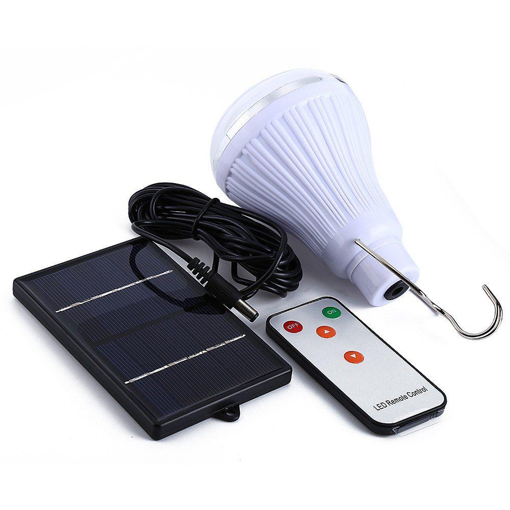 Éclairage intérieur Dimmable DC6V 20 Led 2.5 W télécommande lampe solaire d'urgence éclairage extérieur camping lumières + 1 W panneau solaire