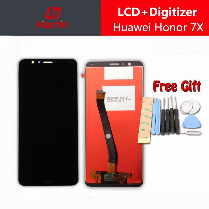 Pour Huawei Honor 7X LCD Affichage Écran Tactile Bon Test Digitizer Assemblée Remplacement Panneau Pour Huawei Honor7X