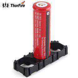 THORFIRE 1 PCS 3x18650 Pemegang Baterai Memancarkan Shell ABS Hitam Plastik Spacer Ringan dan Tahan Lama Pencahayaan Aksesoris