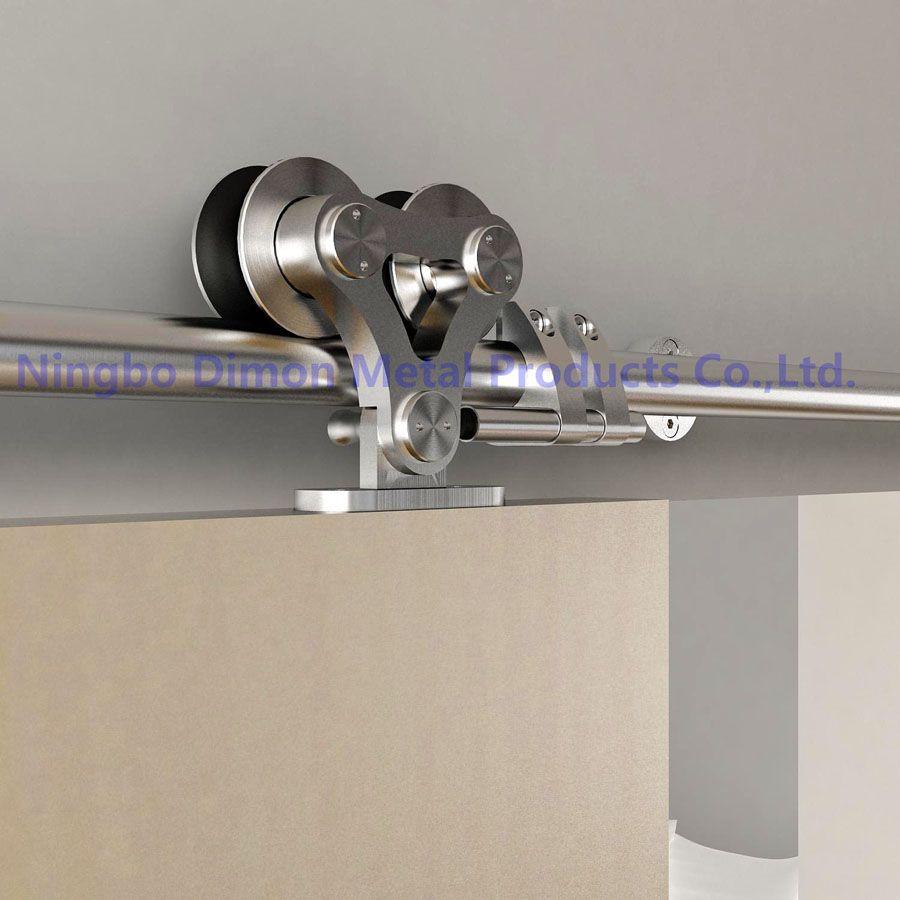 Dimon personnalisé SUS 304 porte coulissante matériel bois porte coulissante matériel amérique style porte coulissante matériel DM-SDS 7102