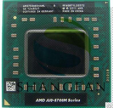 Ordinateur portable AMD A10 5700M série A10 5750M A10-5750m AM5750DEC44HL Socket FS1 CPU 4M Cache/2.5 GHz/processeur Quad-Core GM45/PM45
