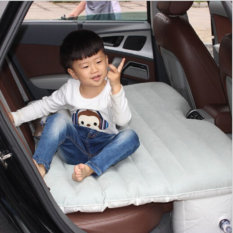 car accessory bed seat cover for back seat car Travel inflatable air mattress bed camping cushion flocking sofa
