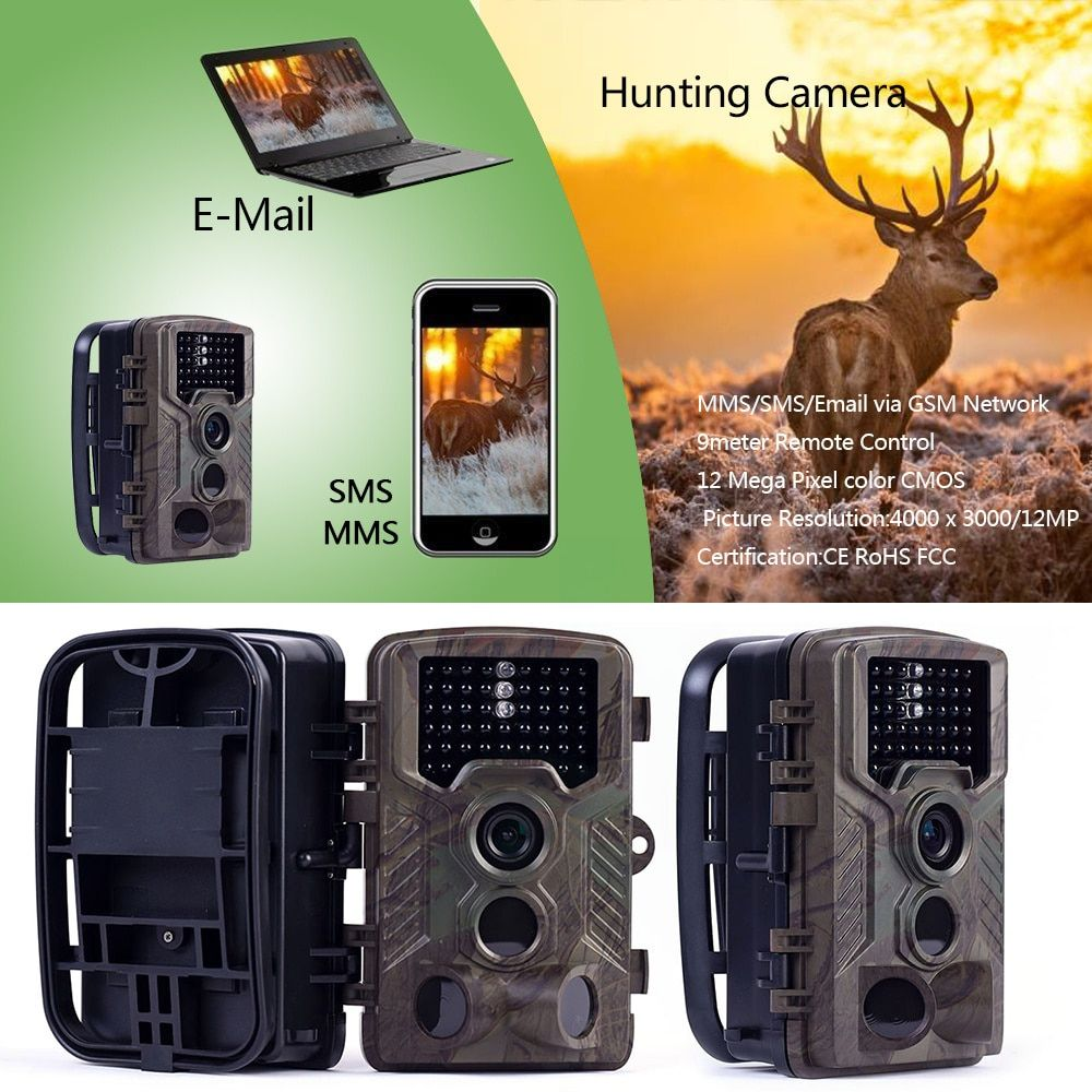 Skatolly HC800M 16MP Infrared Night Vision Hunting Camera MMS Trap SMS Wildlife Trail Cameras Hunter Scouting Photo Traps Camera