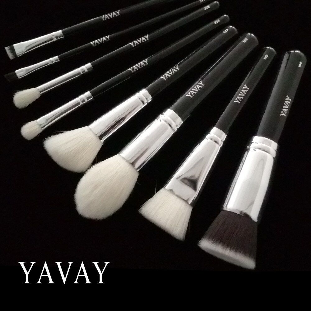 YAVAY make up brushes 8pcs/set brush set professional Nature bristle brushes beauty essentials makeup brushes 100% Real Photo