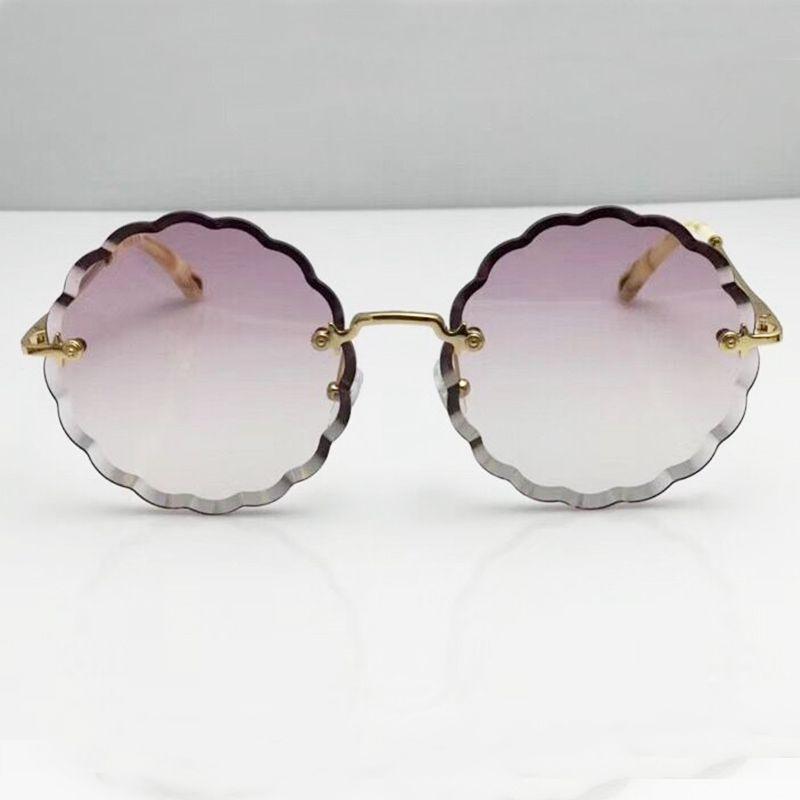 Mode Übergroßen Frauen Sonnenbrille 2018 Neue Runde Dicke Linse Original Sun Glass Brand Name Designer Luxus Party Brille Shades
