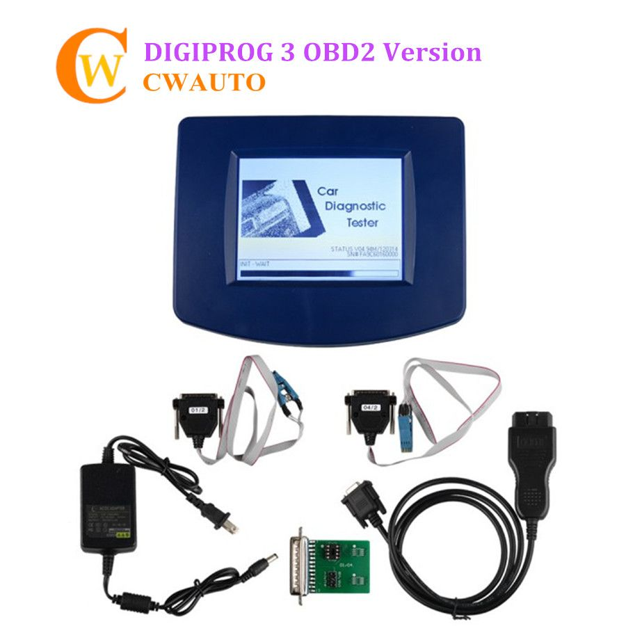 Low Cost Digiprog 3 Digiprog III OBD2 Version Odometer Correction Tool With OBD2 ST01 ST04 Cable