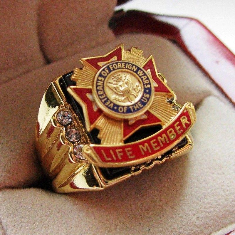 Heißer Verkauf Labor Onyx 18kt Gold Gefüllt, NEUE! Herren US Marine Corps CREST Ring