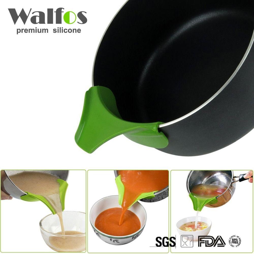 Walfos силиконовые суп Воронки лабораторные Кухня гаджет, анти-разлива край Водоотталкивающее Кухонная посуда инструмент