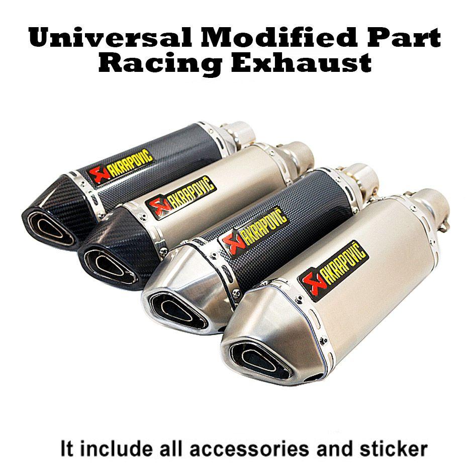 Échappement de course universel 35-51 MM tuyau de silencieux moto escape Fit pour la plupart des motocyclettes ATV Dirt bike Scooter 125-1000cc