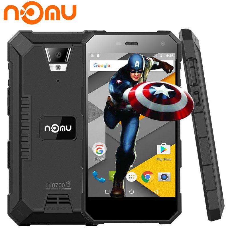 Original Nomu S10 IP68 Wasserdichte Handy Android 6.0 Quad Core 1280x720 8.0MP 5000 mAh 5 Zoll 4G LTE Stoßfest Smartphone