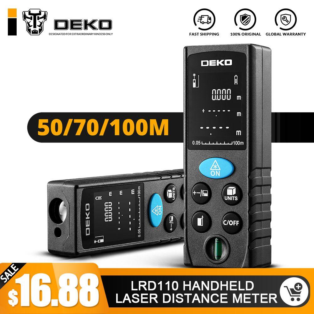 DEKO LRD110 Laser de poche télémètre 40 M 60 M 80 M 100 M mini Laser Télémètre Laser Bande télémètre Diastimeter Mesure