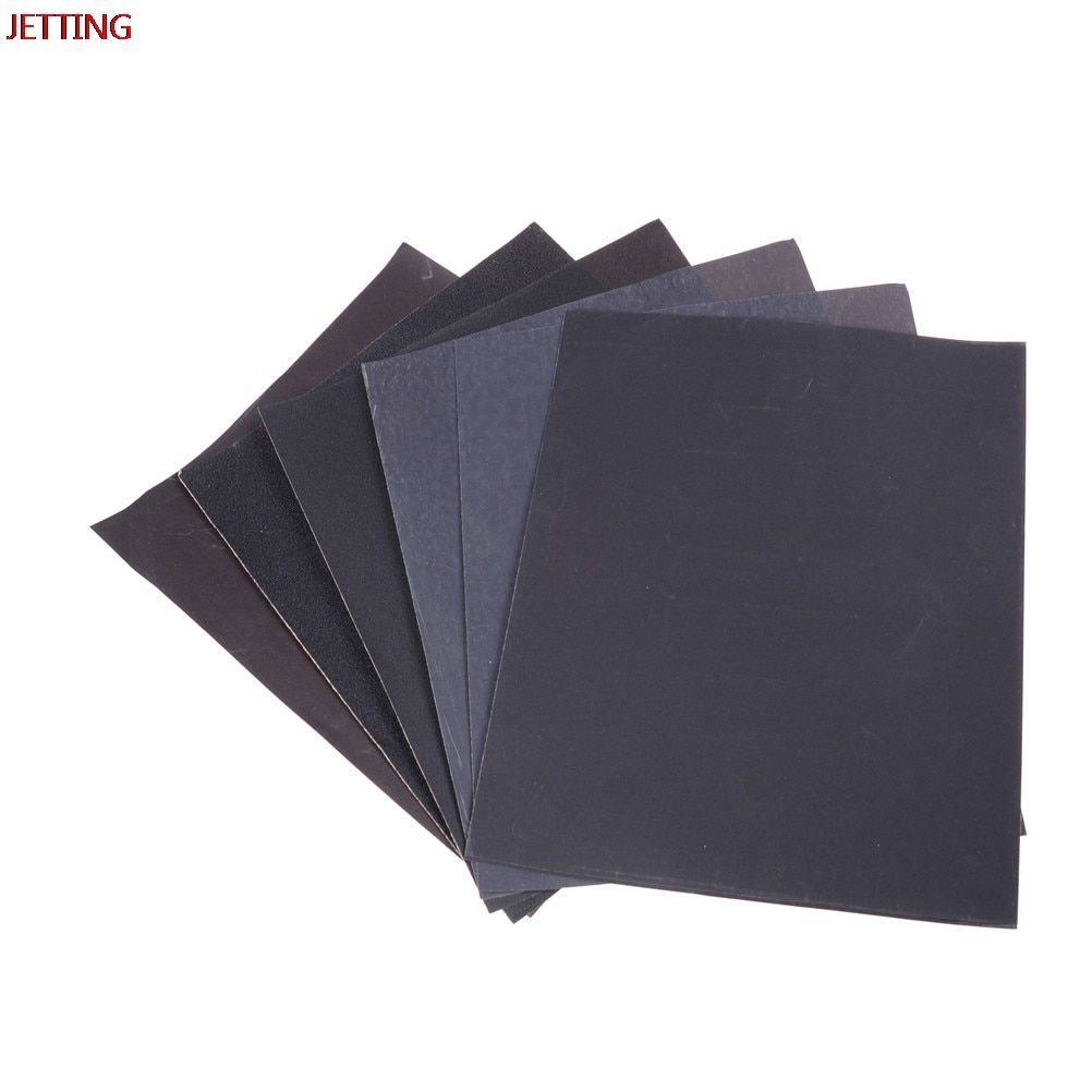 Jetting 180#400#800#1000#1200#1500#2000# Waterproof Sanding Paper Wet Dry Polishing Sandpaper Grit Granularity Metal Wood