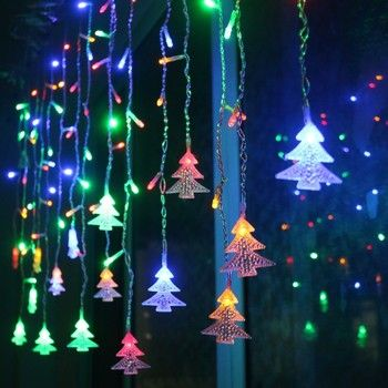 Christmas Tree Light 3.5m 96 LED Lights Navidad 2019 New Year Christmas Decorations for Home Christmas Ornaments Natal Kerst. Q