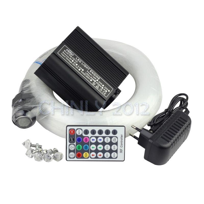 16W 28key RF remote RGBWLED Fiber Optic Star Ceiling Light Kit 0.75mm(50pcs*2m+50pcs*3m+50pcs*4m+50pcs*5m)+Crystal