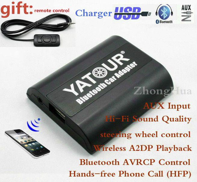 Yatour Bluetooth Auto Adapter Für Renault Siemens VDO Dayton 8-pin kopf uni YT-BTA AUX IN HALLO-FI A2DP USB lade port