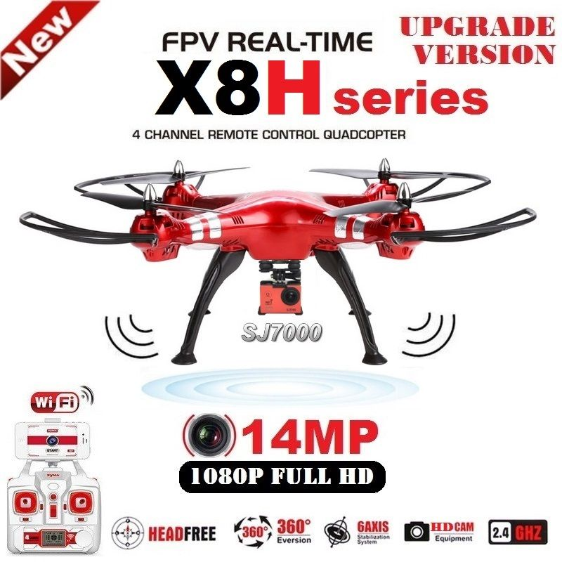 SYMA X8HG X8HW RC Drone 2.4G 6 Axis FPV RC Quadcopter With SJ7000 14MP 1080p Full HD WiFi Camera Professional Drone