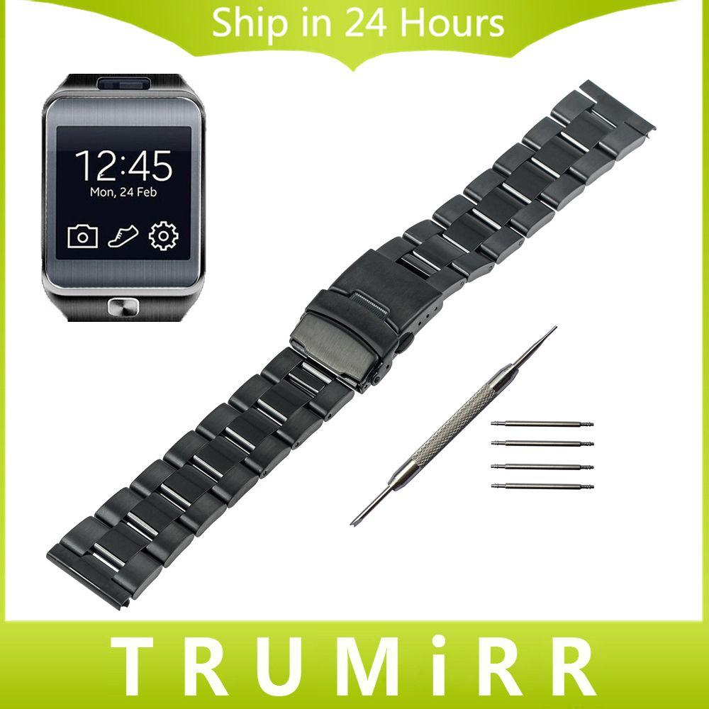 22 мм часы группа Нержавеющаясталь ремешок браслет для Samsung Шестерни 2 R380 Neo r381 r382 Moto 360 2 46 мм ASUS zenwatch 1 2 Для мужчин 22 мм