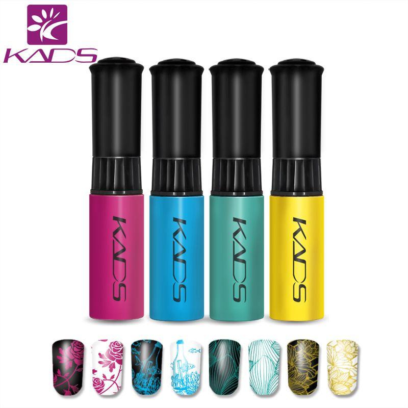 KADS Must Have!! 4pcs/set Nail Stamping Polish Good Quality Nail Art Polish Women Girls Manicure Nail Art Decoration Tools