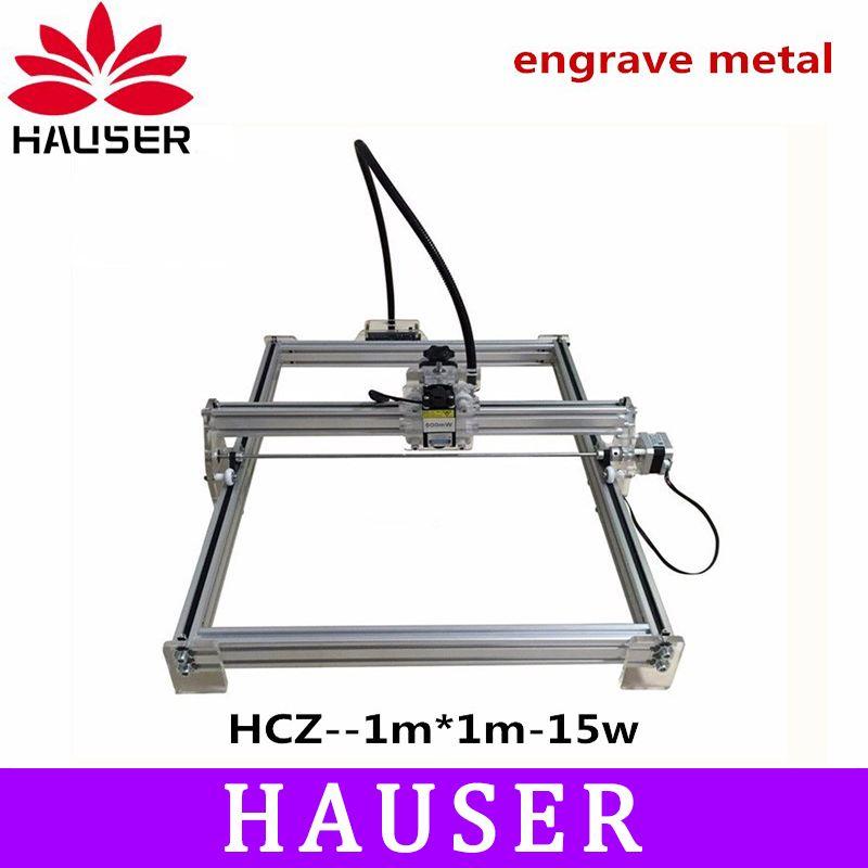 DIY 15 watt große power laser metall stecher, laser metall schneiden maschine, 1*1 mt, großen arbeits größe laser gravieren maschine, laser metall kennzeichnung