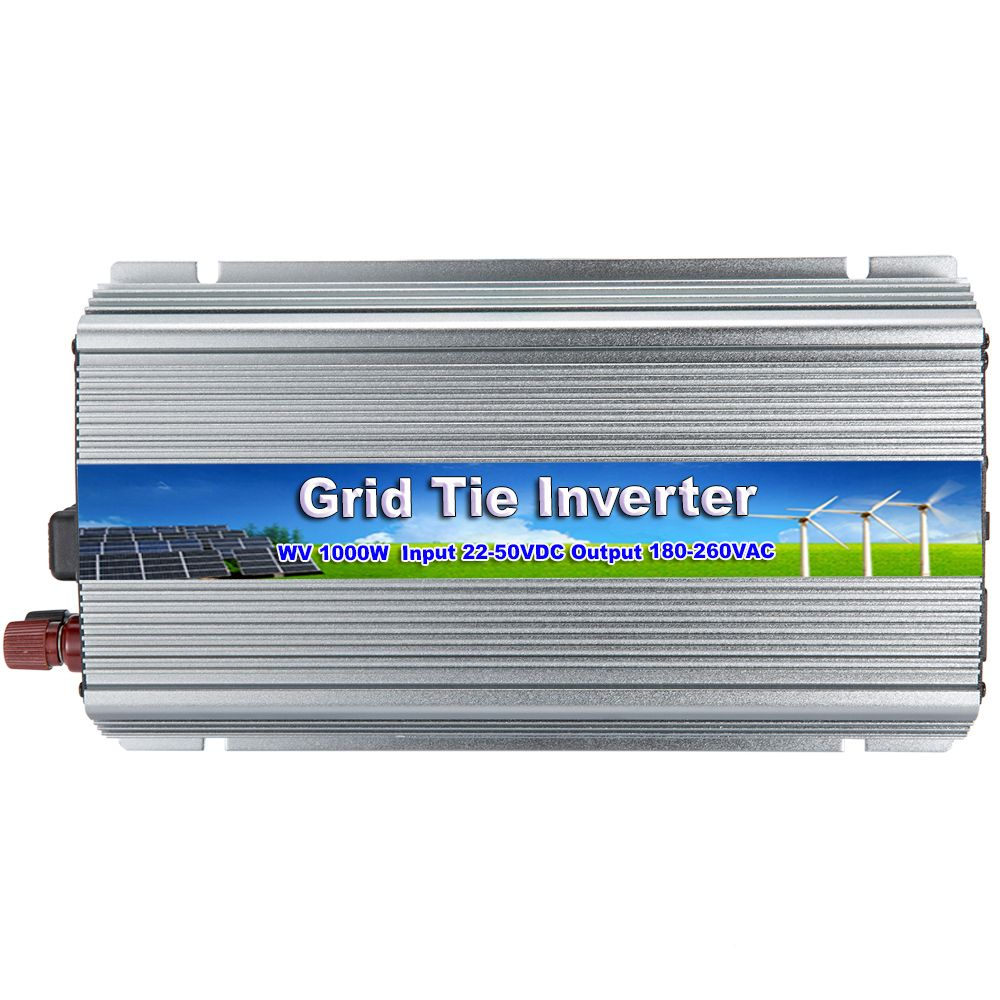 MAYLAR 22-50V 1000W Pure Sine Wave MPPT On Grid Tie Micro Inmetro Inverter Output 180-260VAC For 60 /70 Cell Solar Panels