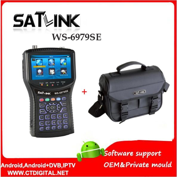Original Satlink WS-6979SE DVB-S2 DVB-T2 MPEG4 HD COMBO Spectrum Satellite Meter Finder satlink ws6979se meter VS WS-6979