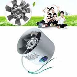 2800R/Min Duct Booster Vent Fan Metal 220V 20W 4 Inch Inline Ducting Fan Exhaust Ventilation Duct Fan Accessories 10 x 7.5cm