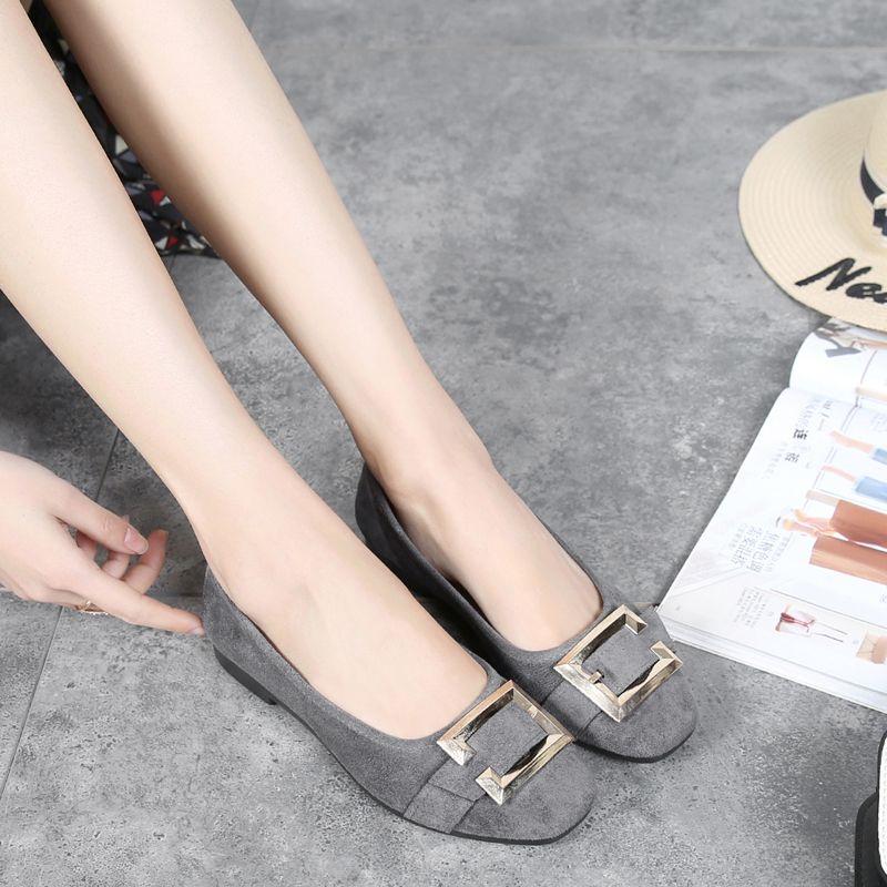 Zapatos de algodón hecho a beijing zapatos Mocasines zapatos de moda dedo del pie cuadrado solos zapatos planos de las mujeres del todo-fósforo zapatos de trabajo negros femenino